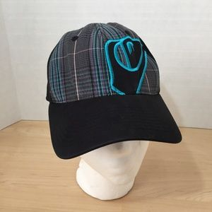 Quicksilver Youth Plaid Hat with Black Brim